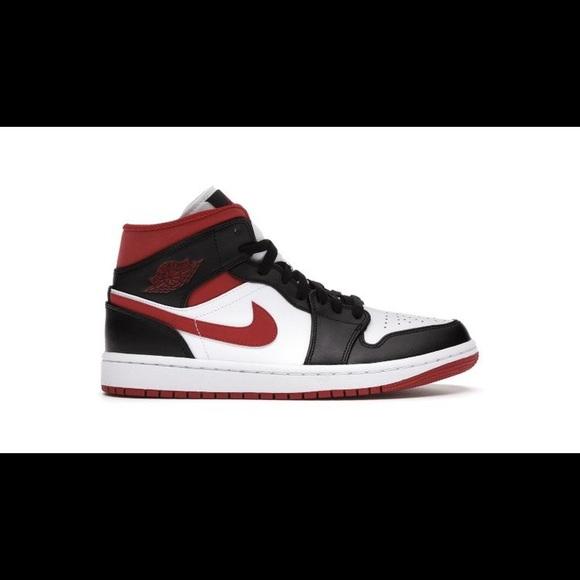 Brand New Red Air Jordan 1 Mid (Size Women7.5/6Y)